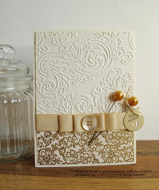 Simple & Elegant Embossed Swirl Card...