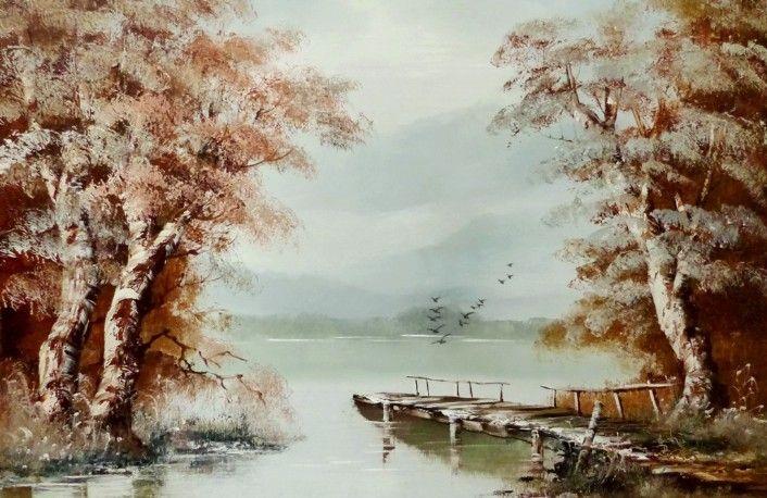 Bocsak Krisztina festőművész Kikötő 40x60 olajfestmény