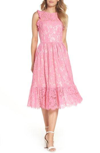 b8ff6ff9d39 Eliza J Ruffle Lace Midi Dress in 2019