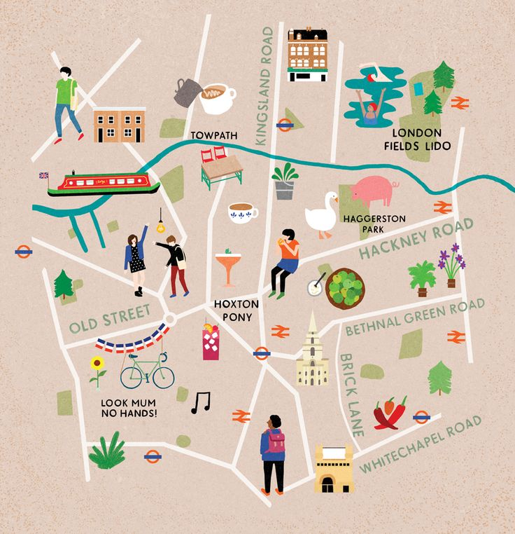 Map of East London for Cara Magazine / Fuchsia Macaree