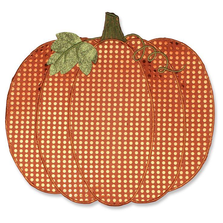 "Pumpkin Sequin Orange Placemat (18""X13"" , Set Of 2) - Pillow Perfect"