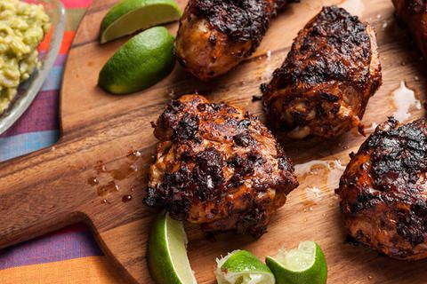 Adobo-Marinated BBQ Chicken, from Tacos, Tortas and Tamales, super cookbook