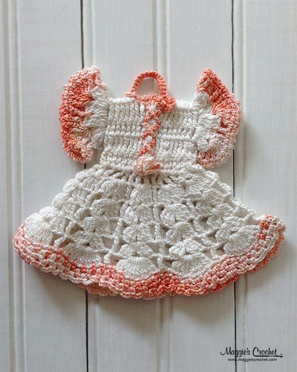 crocheted doll dress pot holders | Vintage Potholders: History of Crochet Dress Potholders