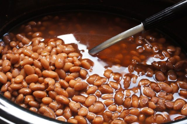 Slow cooker pinto beans. Mitzi's Modification: cut the salt back at least 50%.