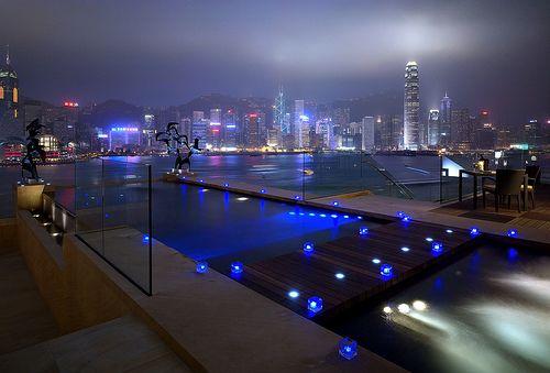 The infinity pool at the InterContinental Hotel Hong Kong