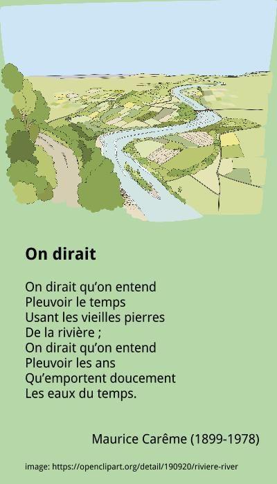 Maurice Carême - On dirait
