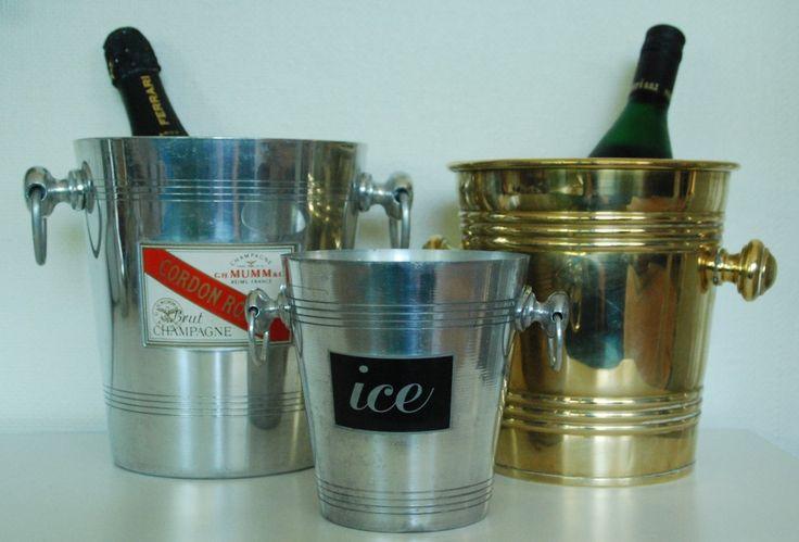 Vin  og champagnekølere. vil pynte på et hvert opdækket bord til ...