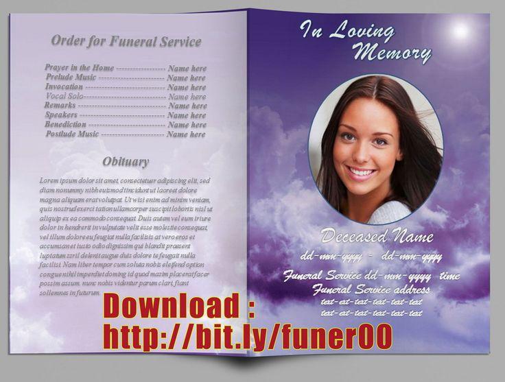 Free Funeral Program Template Microsoft Word Funeral Program Word