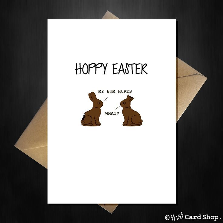 Funny Happy Easter Card - Hoppy Easter from the chocolate Bunnies