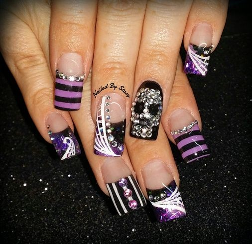 25 beautiful skull nail art ideas on pinterest skull nails diy halloween haunted circus nails by nailedbystacy halloween nail designsskull nail designsrhinestone prinsesfo Image collections