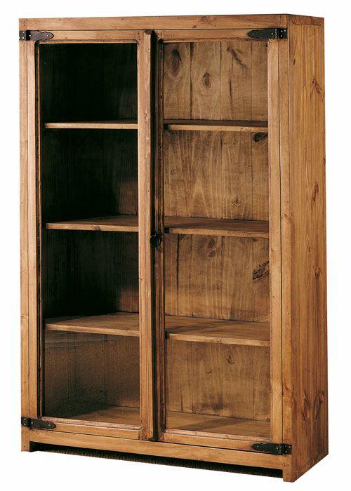 #vitrina baja rustica 2 puertas de cristal color #pino anogalado ref: 45021, estilo #mejicano. Más información en: http://rusticocolonial.es/mueble-rustico-y-mueble-mejicano-de-gran-calidad-al-mejor-precio/muebles-de-salon-rusticos-y-mejicanos-de-gran-calidad-al-mejor-precio/vitrinas-rusticas-y-mejicanas-de-gran-calidad-al-mejor-precio/results,31-30