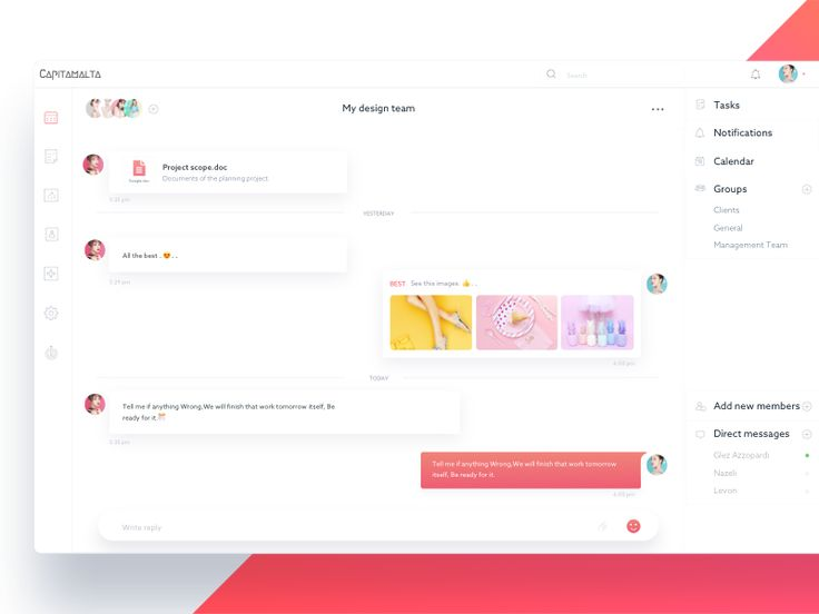 WIP Messaging app concept  Inspiration Collection: ------------------------------ Are you looking for a source of interaction design inspiration? Check out  100 Interaction collection where I publi...