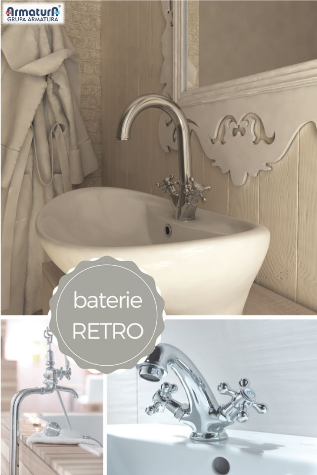 Jeśli w Wasze gusta nie trafiają najpopularniejsze dziś minimalistyczne trendy, może zachwyci Was styl retro? #ArmaturaKraków #retrostyle #retrolazienka #retro #bathroom #łazienka #interior #wystrójwnętrz #baterie #trends #oldbeauty http://www.grupa-armatura.com/pl-PL/produkt/klasa/armatura-sanitarna-i-lazienkowa-grupa-armatura/baterie-retro-royal-class-grupa-armatura/421/8