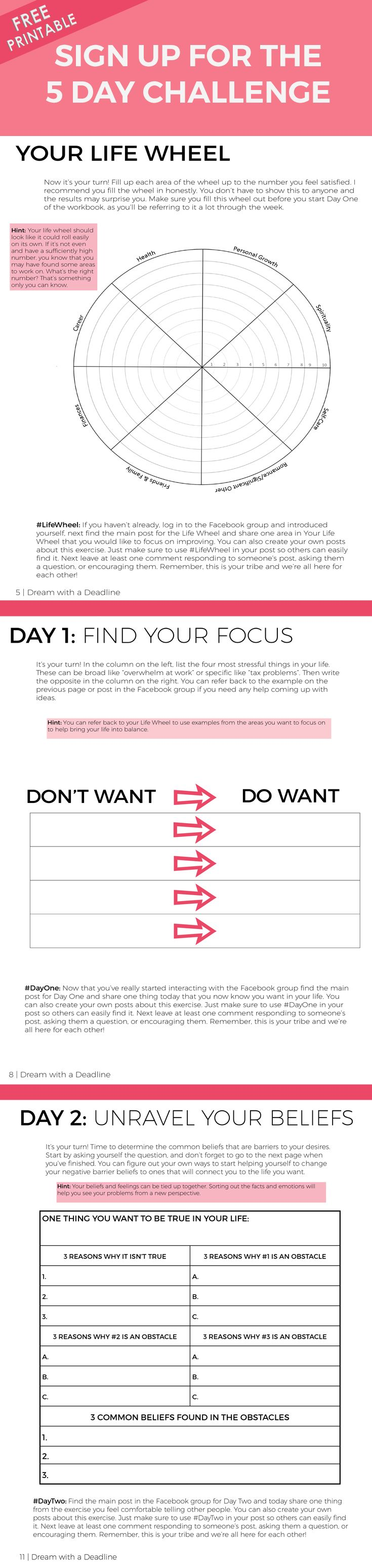 [FREE PRINTABLE] Dream with a Deadline - GOAL PLANNING Workbook - Mary Shores