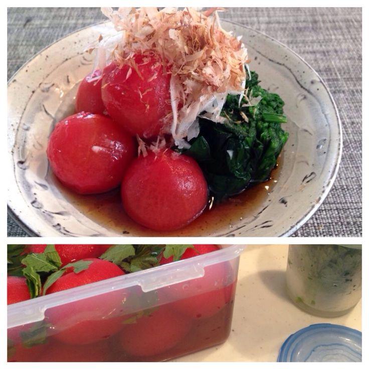 トマトのお浸し