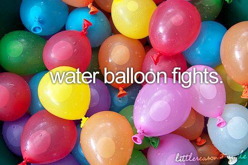 Water Balloon Fights