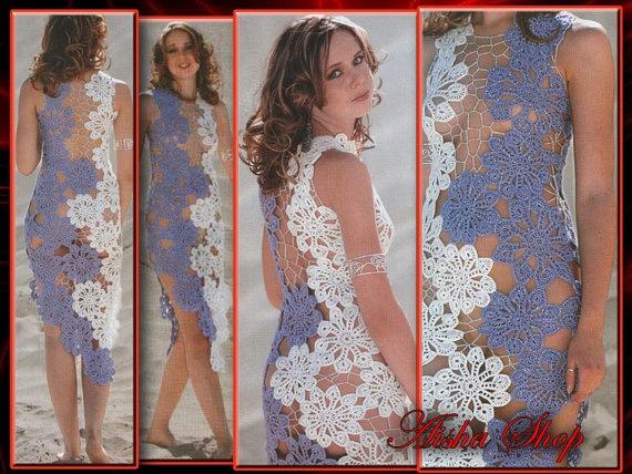 Crochet Patterns eBook Irish Lace Dresses Tops by AishaShop, $2.80