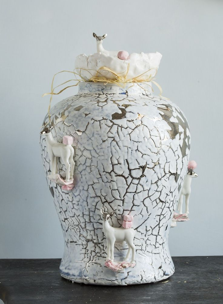 Porcelain jar , CorallaMaiuri design /Ludek&Co