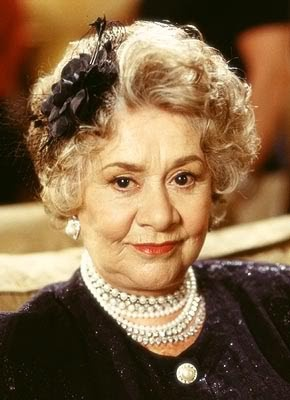 Joan Plowright, highly acclaimed British actress and beloved by me of course. Such a classy lady.
