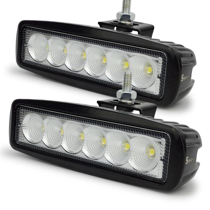 12 Volt 18W LED work light bar lamp 12V led tractor work lights LED worklights off road 4X4 24V led offroad light bar spot flood