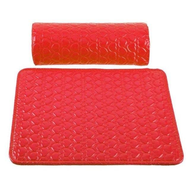 2pcs Pu Leather Nail Art Pillow Arm Rest Pad Manicure Cushion Holder Arm Rest Hand Pillow Pad Nail Art Tools Accessories Hand Pillow Pillow Art Arm Rest