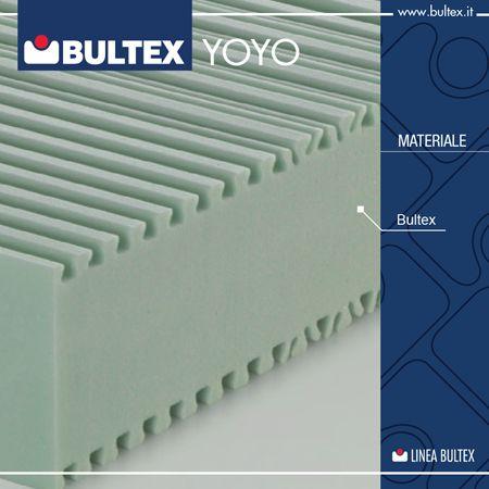Il materasso YOYO è realizzato per sfruttare al meglio le caratteristiche del materiale Bultex, l'innovativa mousse ad alta resilienza caratterizzata da una struttura a microcelle per offrire prestazioni eccellenti e un comfort mai provato.  Vieni a provare i prodotti Bultex presso il tuo rivenditore più vicino!