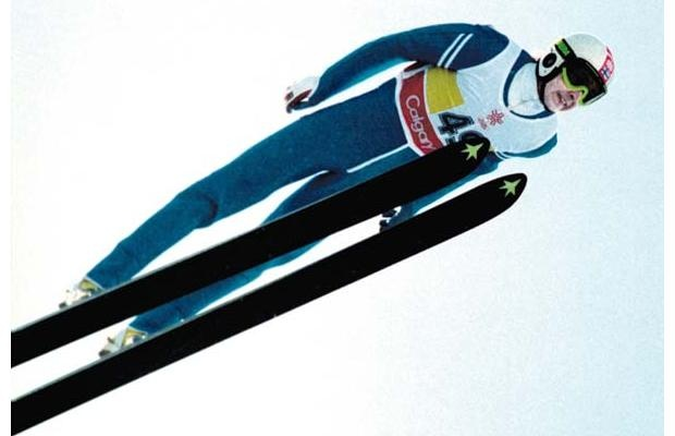 Finnish ski jumper Matti Nykänen flew high above the crowd and competition to win three gold medals.