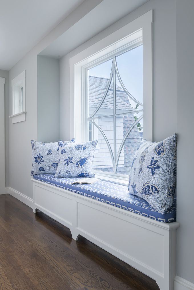 white color window seat | window seat | Digs Design Company | Cute and Comfy ...