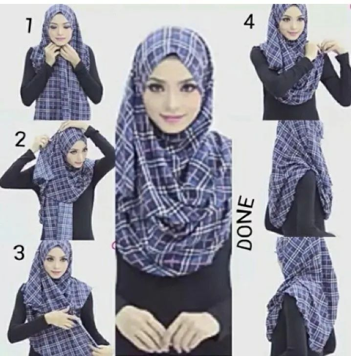 Tutorial hijab daily