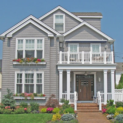 I love the idea of adding window boxes to a second story window.