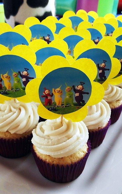 Teletubbies Picture Cupcakes