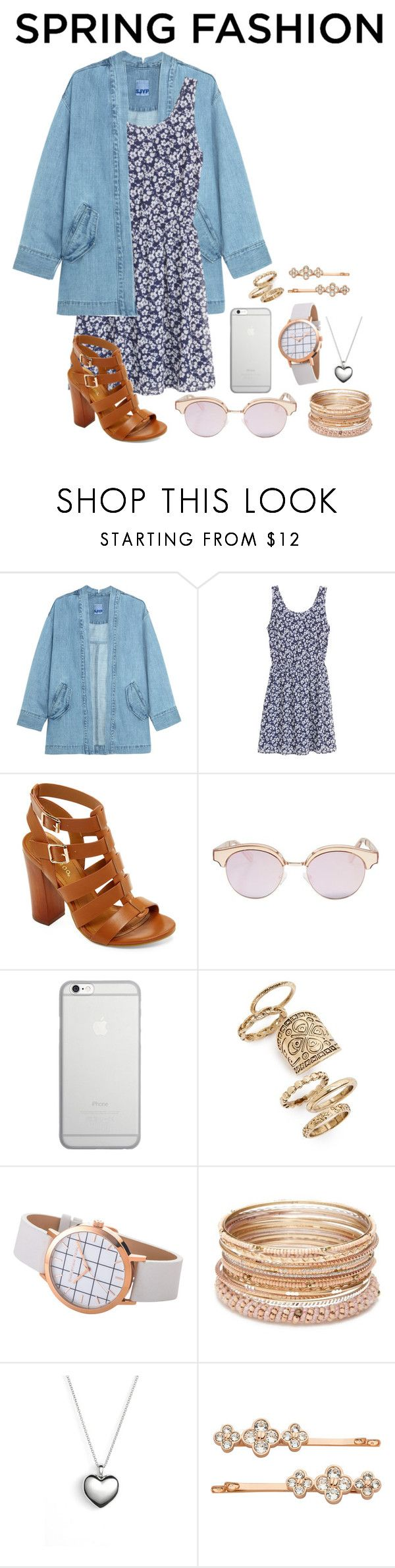 """Spring dress"" by samarinara ❤ liked on Polyvore featuring Steve J & Yoni P, H&M, Bamboo, Le Specs, Native Union, Topshop, Red Camel, Pandora and Henri Bendel"