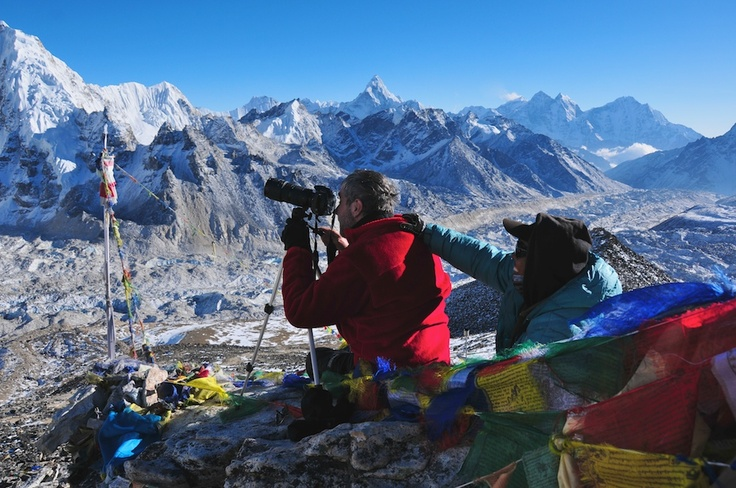 Kalapatar in Nepal. Photographing Everest.