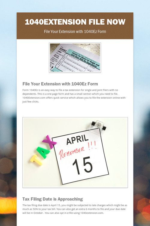 Best 25 tax extension ideas on pinterest tax help homestead form 1040ez is an easy way to file a tax extension for single and joint filers ccuart Image collections