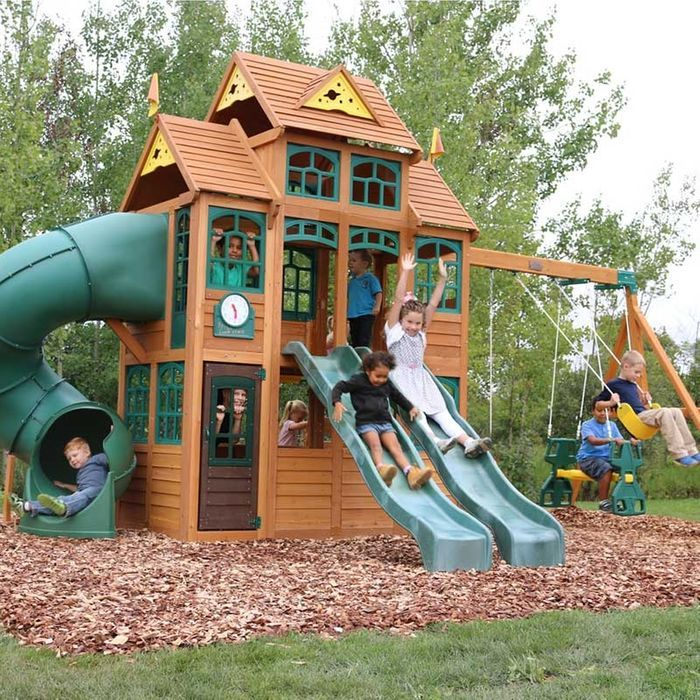 Falcon Ridge Wooden Swing Set Assembly Included Outdoor Design