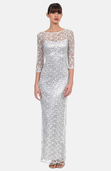 Kay Unger Sequin Lace Colum Gown available at #Nordstrom