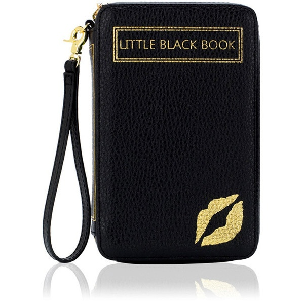 LULU GUINNESS Little Black Book Clutch ($108) ❤ liked on Polyvore