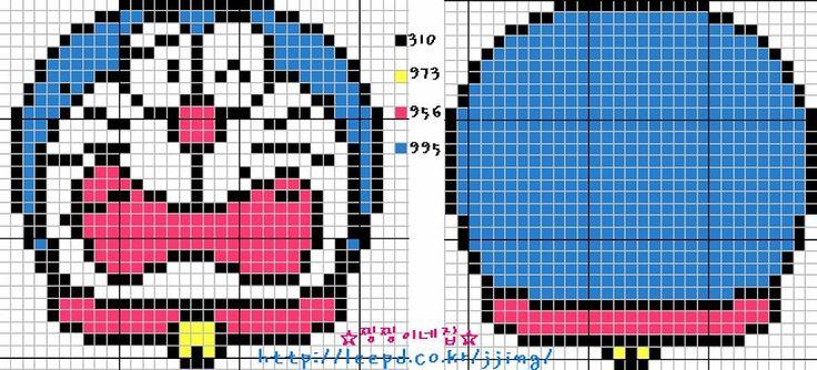 Doraemon perler bead pattern