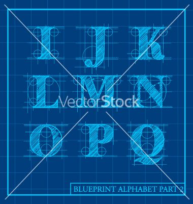 24 best blueprint images on pinterest typography architectural blueprint style alphabet set 2 vector 1657967 by dianekmurphy on vectorstock malvernweather Choice Image