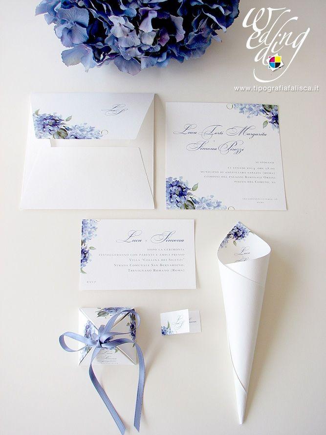 56 best coordinati di nozze tipografia falisca images on - Ortensia blu ...