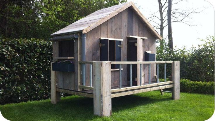 Speelhuisje Lobke - Voor kinderen - Tuinmeubelen | Woedz Steigerhouten meubelen