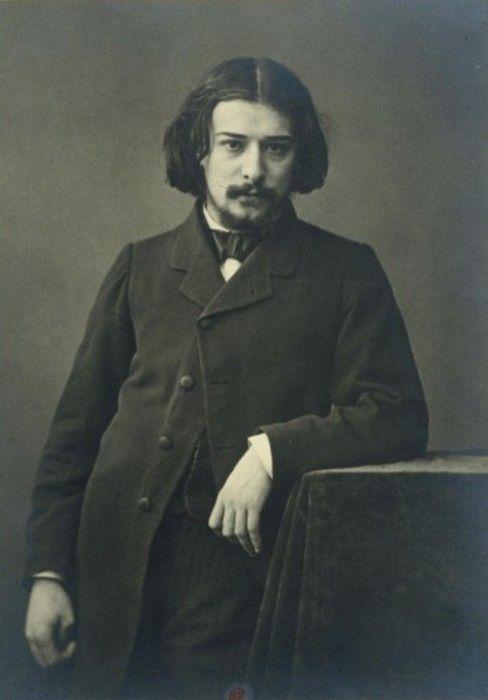 French novelist Alphonse Daudet by Felix Nadar. Mid 1860s.