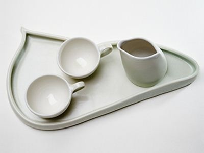 Espresso for two, handmade porcelain.