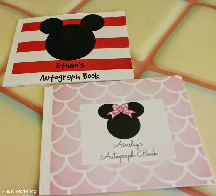 R & R Workshop: Shutterfly Photo Books: Make a Disney Autograph book with quotes + free printable!