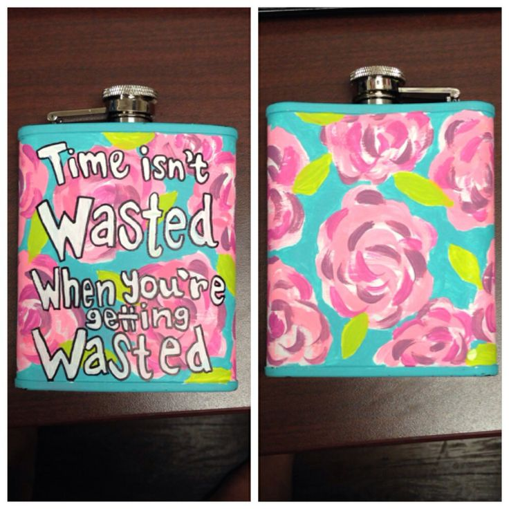 Too proud to not post it on Pinterest, Lilly Flask I painted #tstc #tsm