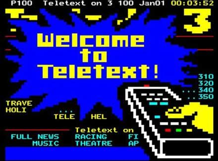 welcome to teletext! ['confessions of a teletext addict' - sabotage times]
