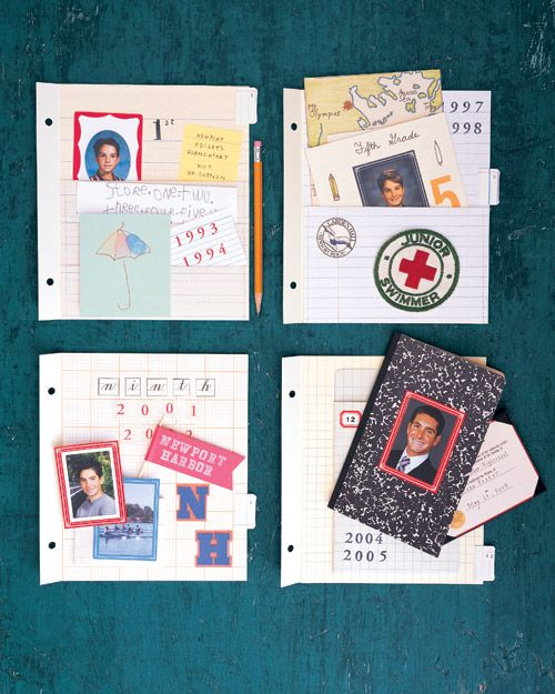 Present high school graduate with a scrapbook of their school days past. Would work for a sibling too!! School Days - Martha Stewart Crafts
