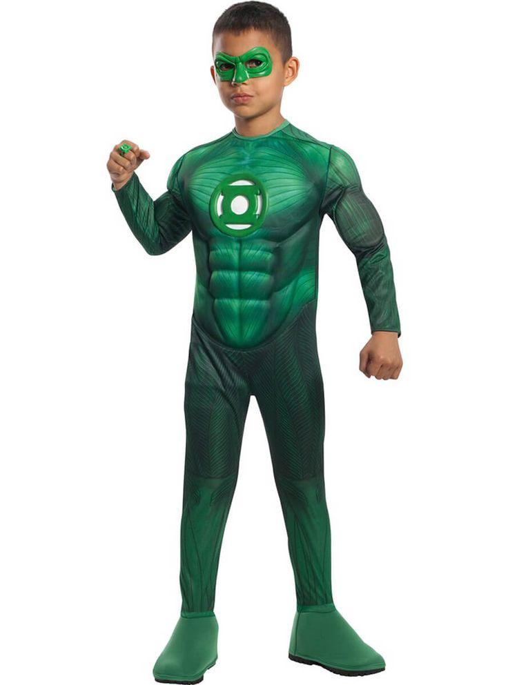 Disfraz de Linterna Verde musculoso para niño