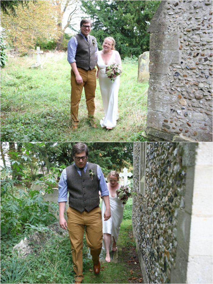 Stapleford Church wedding followed by rustic reception at Childerley Long Barn