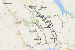 Napa Map: Take a Gander at California's Famous Wine Country: Napa Map - Sonoma and Napa Valley Map